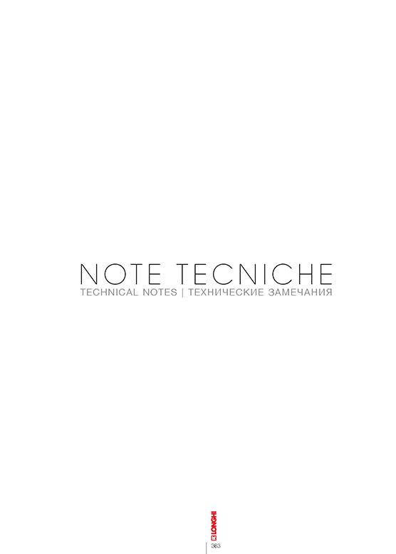 NOTE TECNICHE 2012